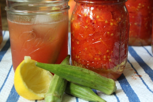 Tomato water bloody mary and canned tomatoes