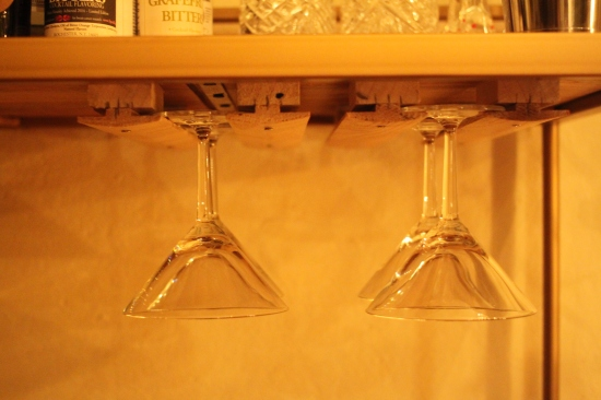 DIY martini glass rack